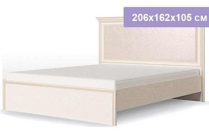 Двуспальная кровать Столплит Венето дуб/леонардо 206x162x105 см (ортопедическое основание 1400)