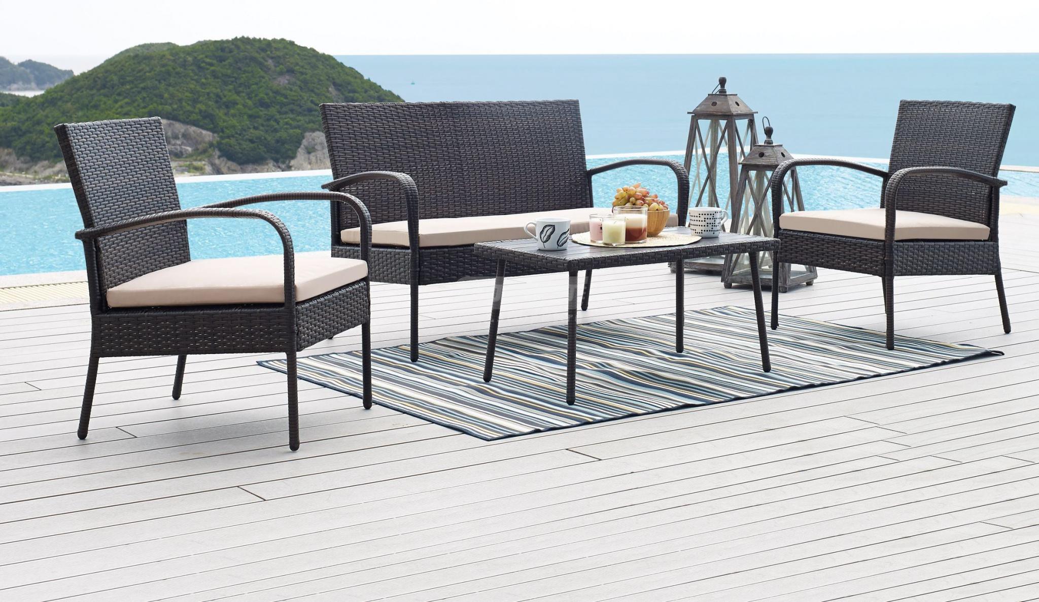Комплект мебели Столплит 210273 черный 39x62x110 см