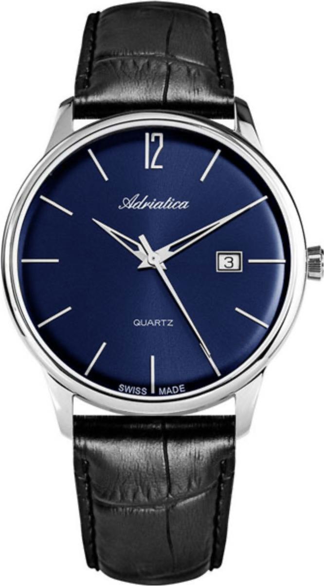Наручные часы Adriatica Gents A8254 синий/кожаный