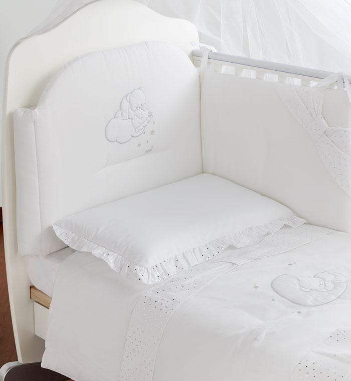 Постельное белье Italbaby Polvere Di Stelle белый (из 5 предметов)