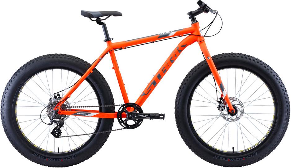 """Велосипед Stark Fat 26.2 D (2020) оранжевый/серый/белый 26""""/18"""""""