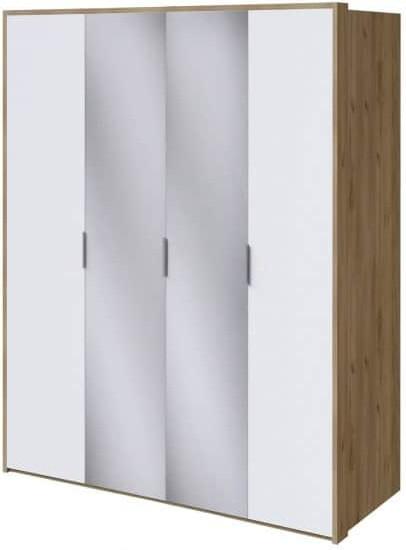 Шкаф Интердизайн Тоскано дуб крафт/белый 2209x1868x599 см (с зеркалами)