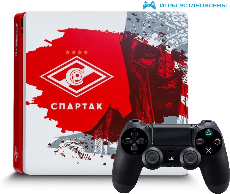 Игровая приставка Sony PlayStation 4 Slim 1Tb Спартак Навсегда + Sony DualShock 4 Black + игры