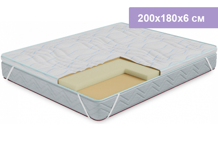 Наматрасник Столплит Соник-Латекс 200x180x6 см (чехол Кулер)