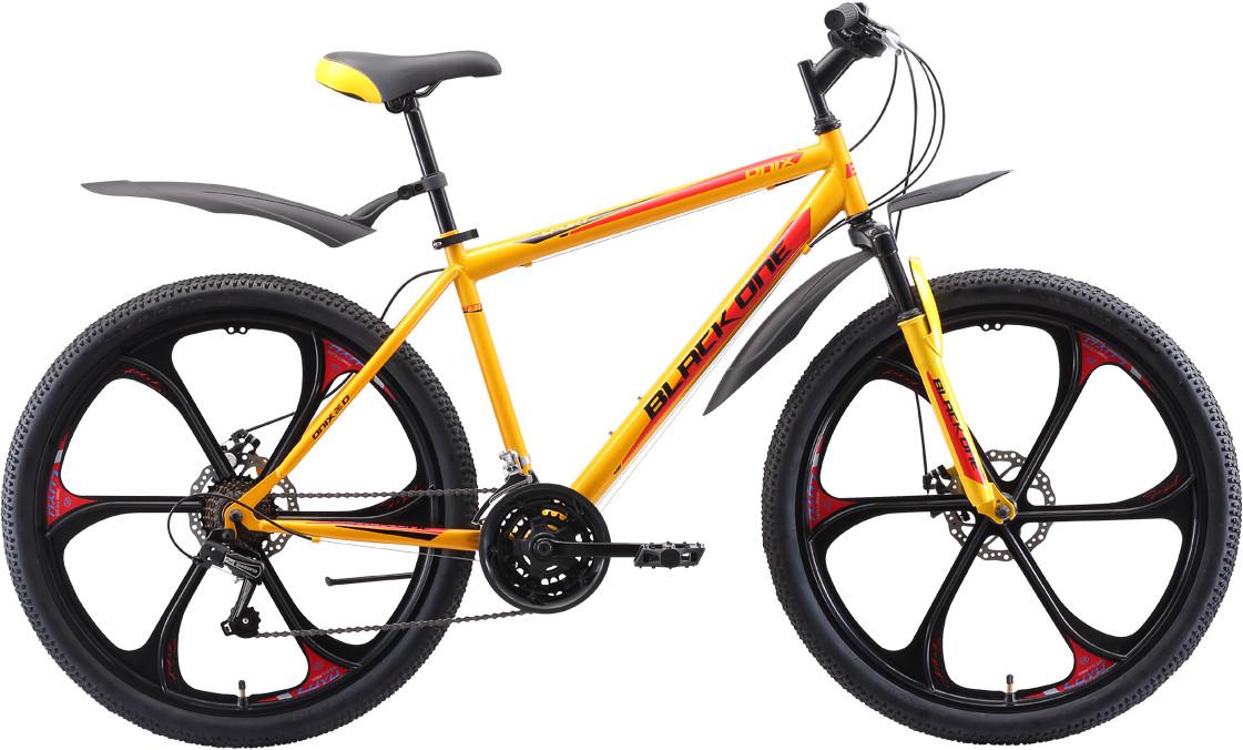"""Велосипед Black One Onix 26 D FW (2020) жёлтый/чёрный/красный 26""""/16"""""""