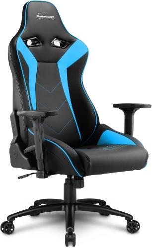 Игровое кресло Sharkoon Elbrus 3 черный/синий