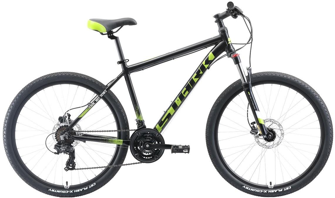 """Велосипед Stark Indy 26.2 HD (2019) черный/зеленый/белый 26""""/20"""""""