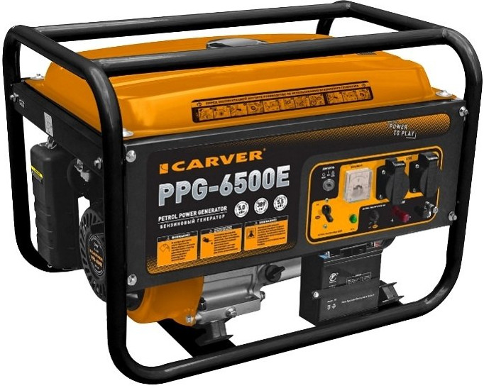 Бензогенератор Carver PPG- 6500Е