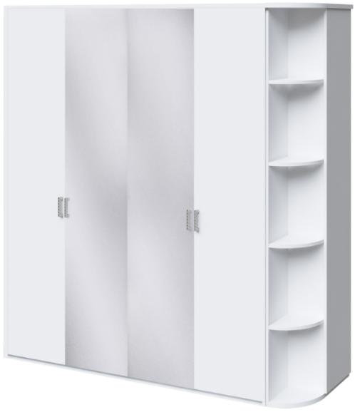 Шкаф Интердизайн Белла белый/белый 221x207x60 см