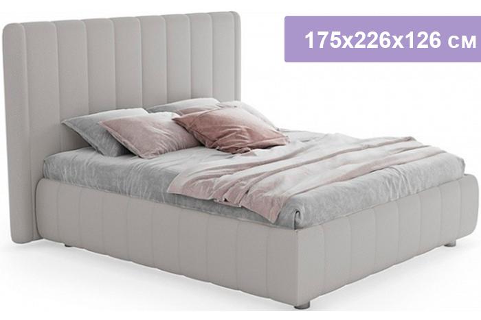 Двуспальная кровать Цвет Диванов Наоми серебристо-серый 175x226x126 см (подъемный механизм)