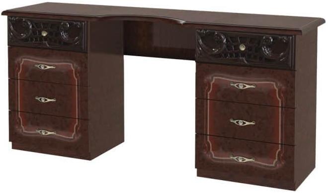 Туалетный столик Интердизайн Роза темно-коричневый/темно-коричневый 743x1550x406 см