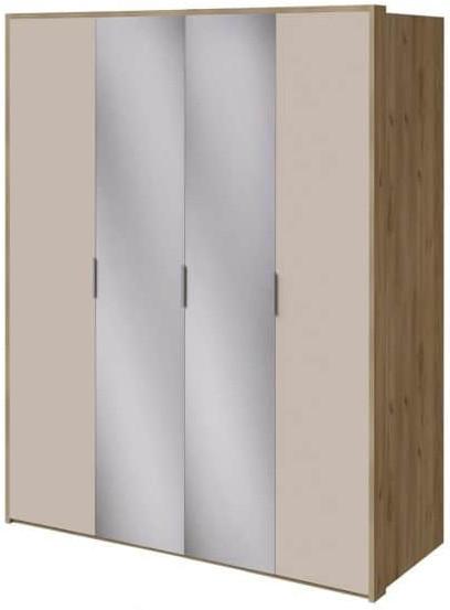 Шкаф Интердизайн Тоскано дуб крафт/капучино 2209x1868x599 см (с зеркалами)