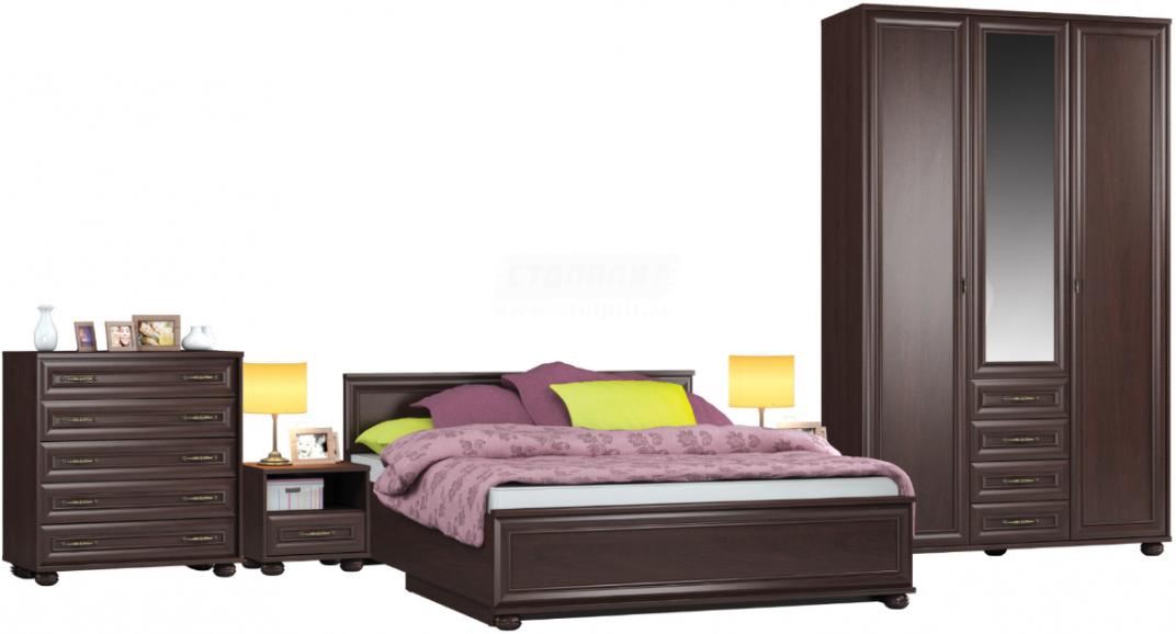 Спальня Столплит Верди 114-523-758-4413 махагон