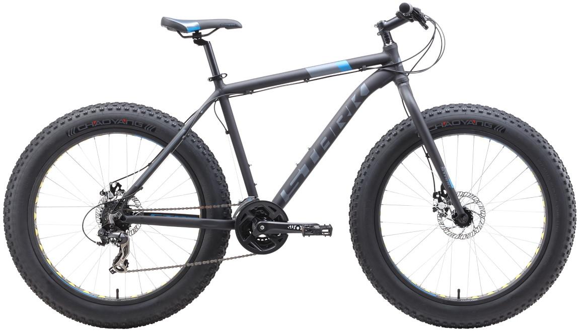 Велосипед Stark Fat 26.2 D (2019) чёрны…