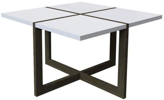 Журнальный столик Интердизайн Моби ясень темный/белый 480x800x800 см
