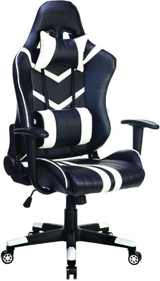 Игровое кресло Бюрократ СН-789/BL+WH черный/белый