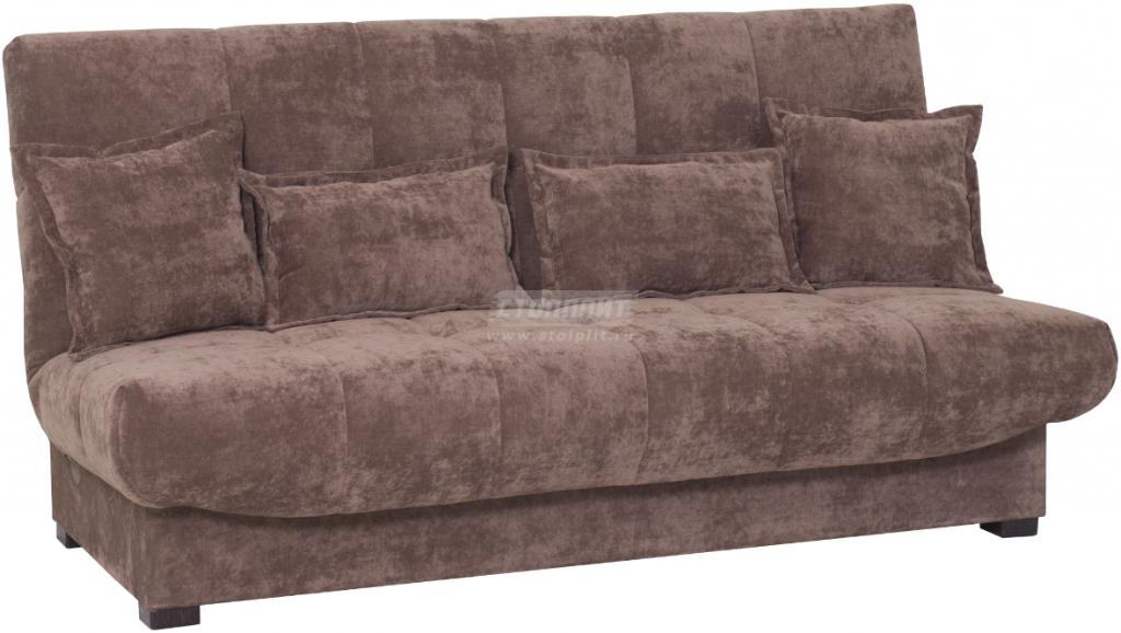Диван-кровать Столплит Аккорд БД коричневый 192x100x95 см