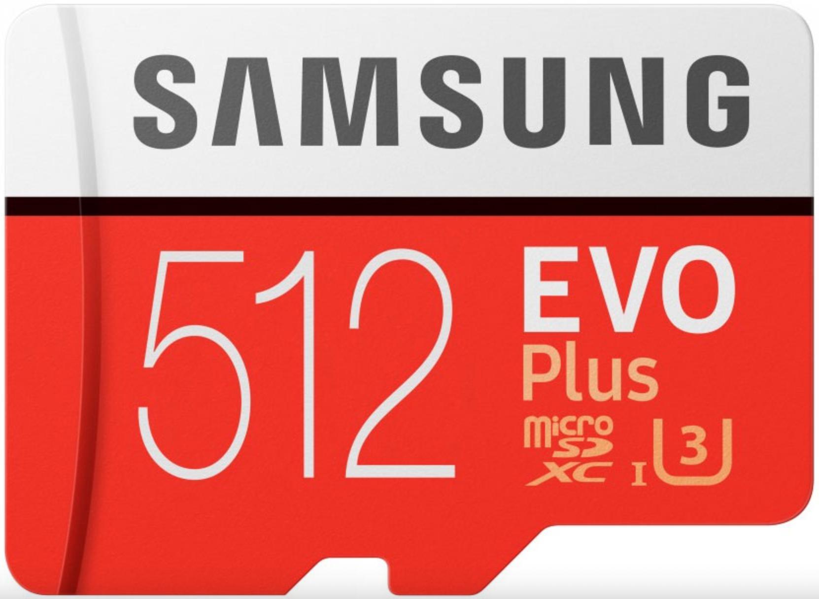 Карта памяти Samsung microSDXC 512Gb Class 10 EVO+ (с адаптером)