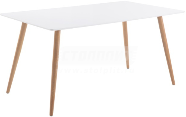 Кухонный стол Столплит DT-6603 белый 150x90x75 см