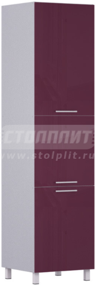 Пенал Столплит Анна 301-360-360-0917 алюминий/баклажан 60x237x56 см (с фасадом)