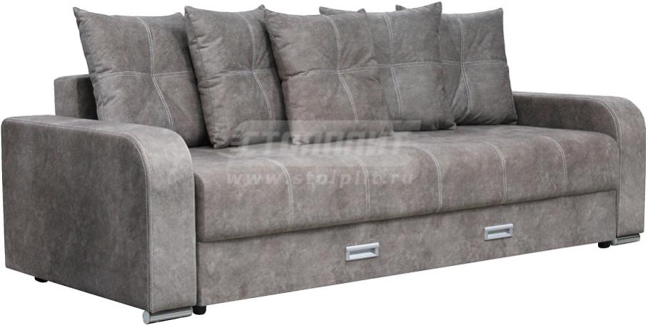 Диван-кровать Столплит Августин-2 серый матовый 238x100x73 см