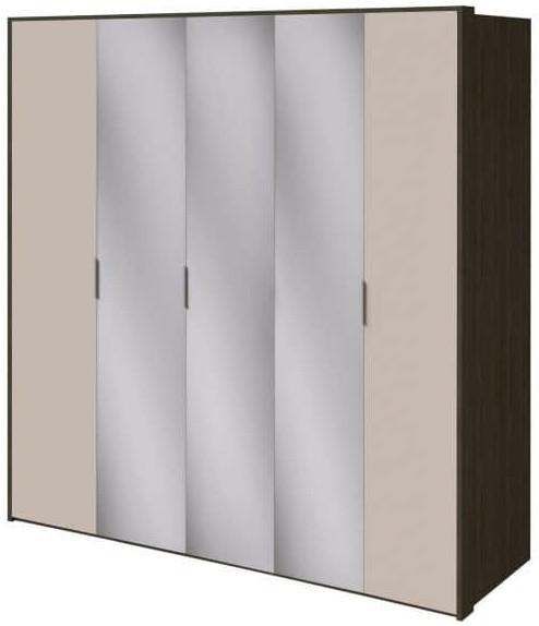 Шкаф Интердизайн Тоскано ясень темный/капучино 2209x2320x599 см (с зеркалами)