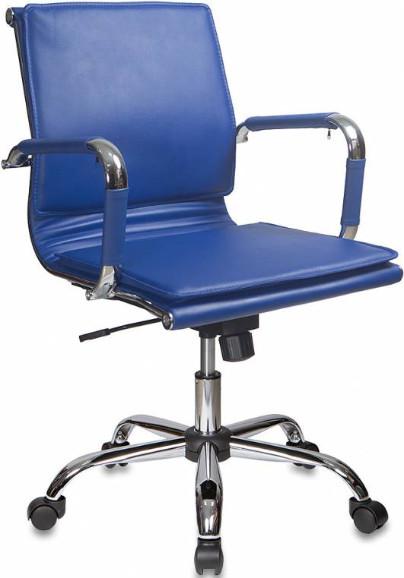 Кресло руководителя Бюрократ CH-993-LOW/BLUE синий