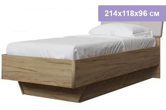 Односпальная кровать Интердизайн Тоскано дуб крафт/белый 214x118x96 см (ортопедическое основание)