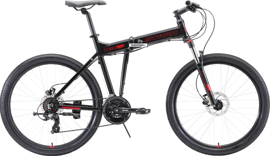 """Велосипед Stark Cobra 26.2 HD (2020) черный/красный 26""""/20"""""""