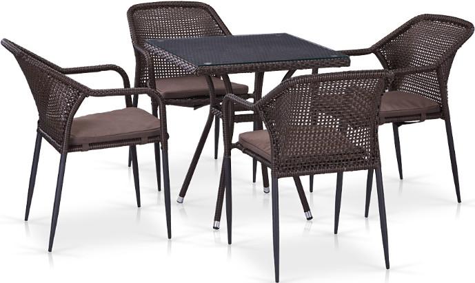 Комплект мебели Афина-Мебель T282BNT/Y35B-W2390 4Pcs коричневый