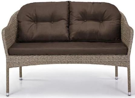 Диван Афина-Мебель S54B-W56 светлый коричневый