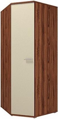 Шкаф Цвет Диванов Вейла В-20.0 угловой орех каннеро/песочный матовый 88x88x215 см