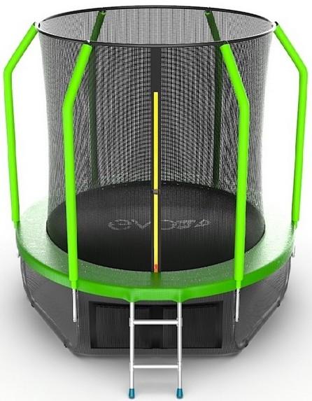 Батут Evo Jump Cosmo 6FT Green (с внутренней сеткой и лестницей)