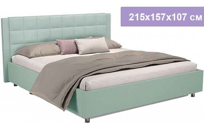 Двуспальная кровать Цвет Диванов Барроу Н мятный 215x157x107 см (подъемный механизм)