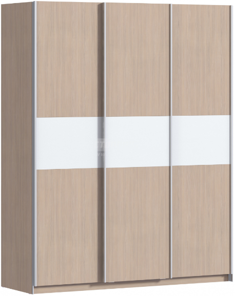 Шкаф-купе Столплит Дакота 012-101-000-1400 сосна авола шампань/белый глянец 177x64x222 см
