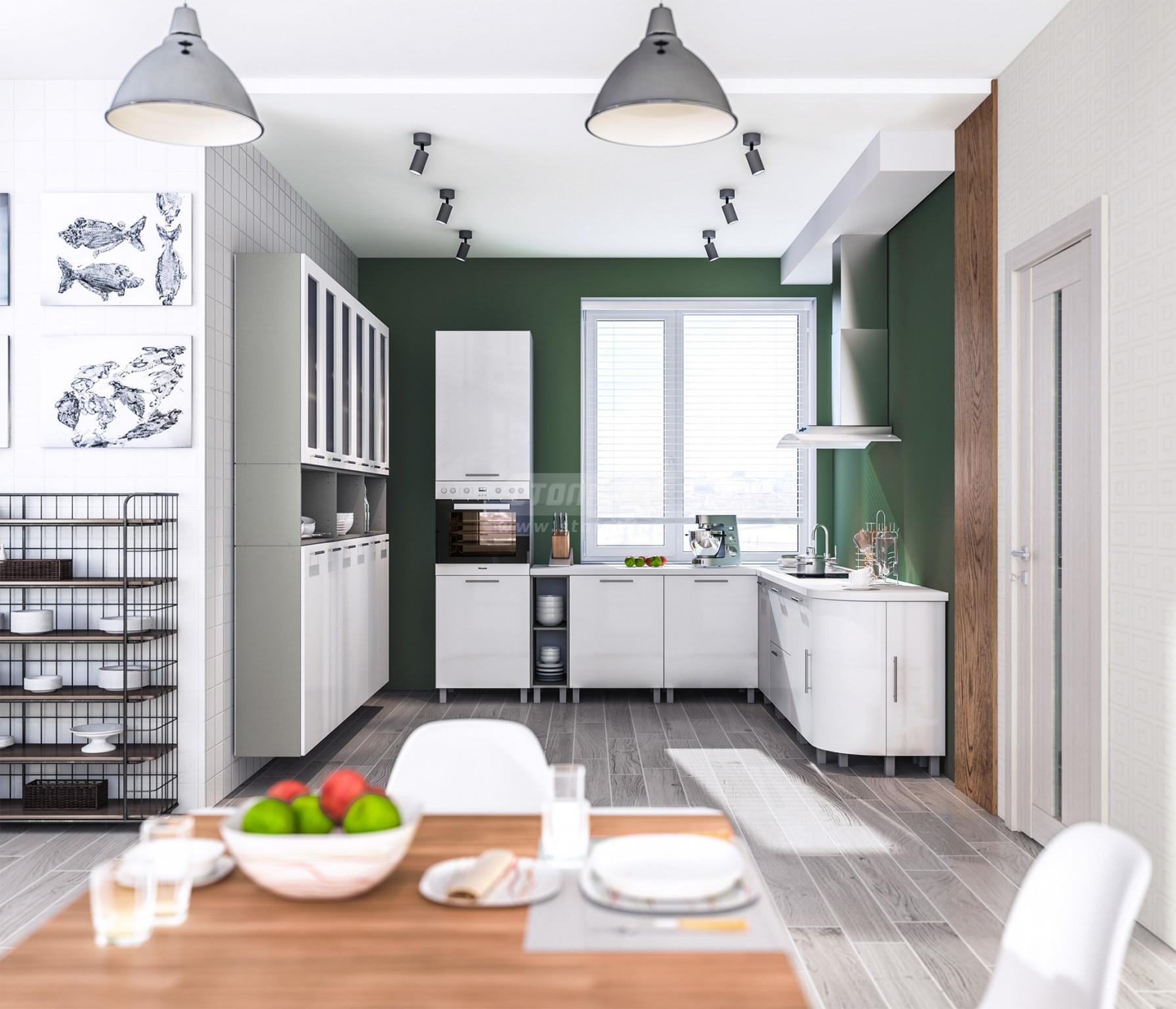 Кухня Столплит Анна алюминий/белый глянец 265x260 см