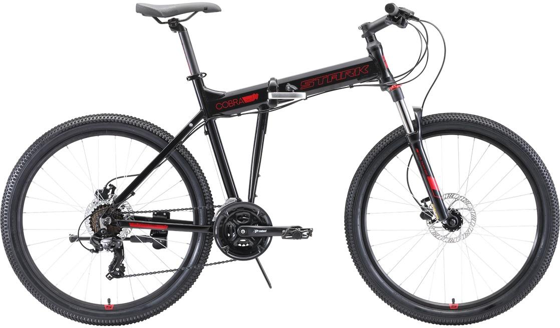 """Велосипед Stark Cobra 26.2 HD (2020) черный/красный 26""""/18"""""""