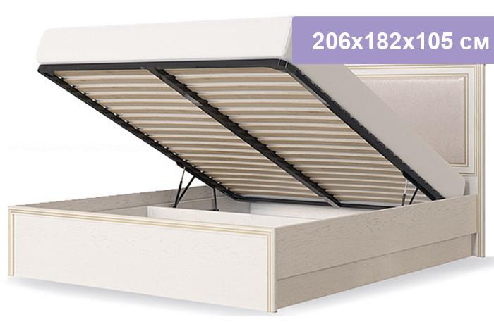 Двуспальная кровать Столплит Венето дуб/леонардо 206x182x105 см (ортопедическое основание 1600, с механизмом)