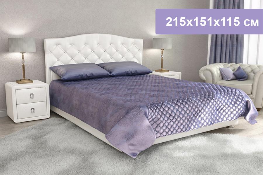 Двуспальная кровать Цвет Диванов Елизавета Н белоснежный 215x151x115 см