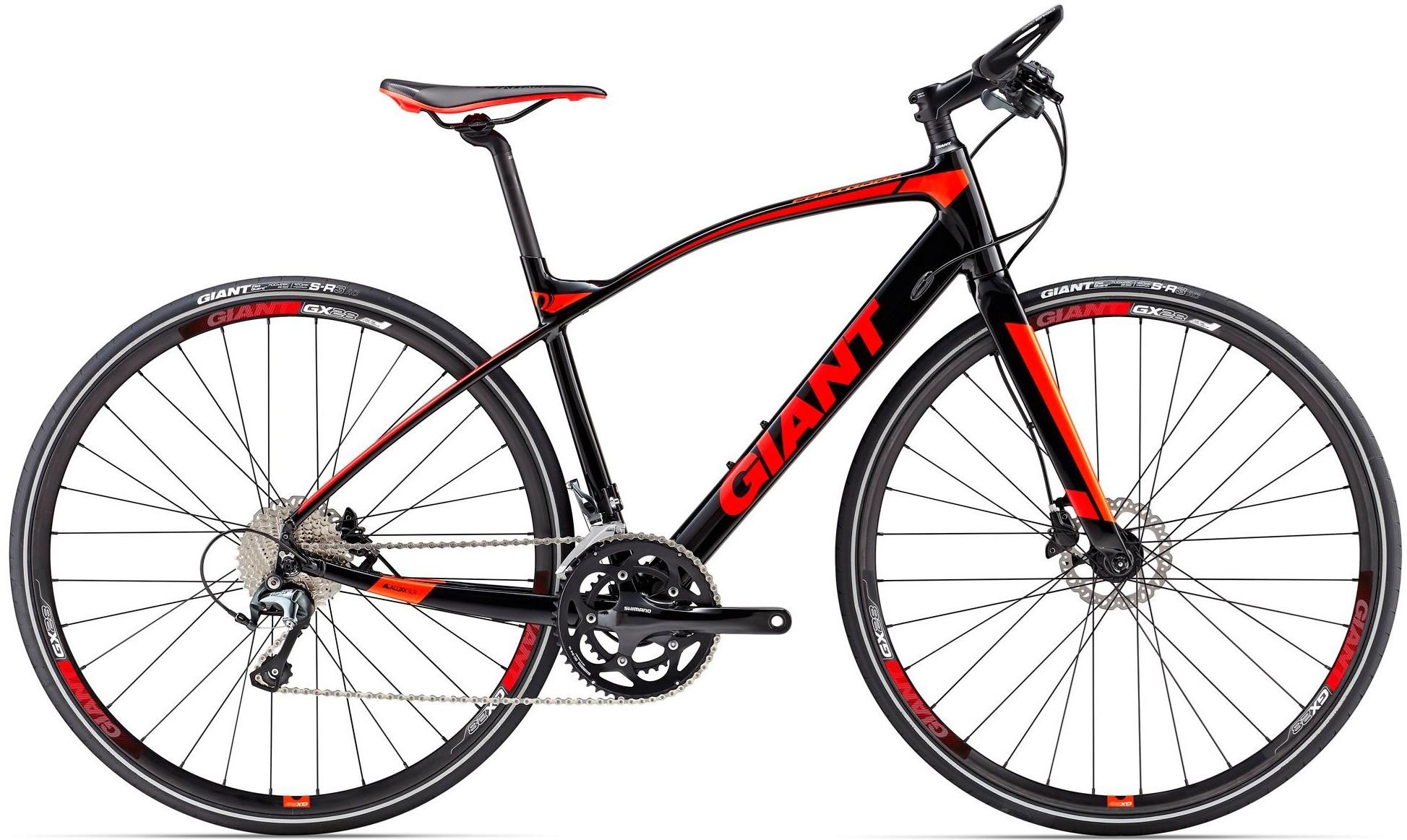 """Велосипед Giant FastRoad SLR 1 (2017) Black/Red/Orange 28"""""""