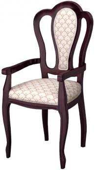 Кресло Интердизайн Роза темно-коричневый/темно-коричневый 1055x570x540 см