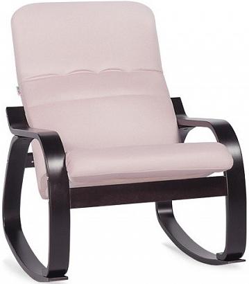 Кресло-качалка Цвет Диванов Оливер розовый 69x90x92 см