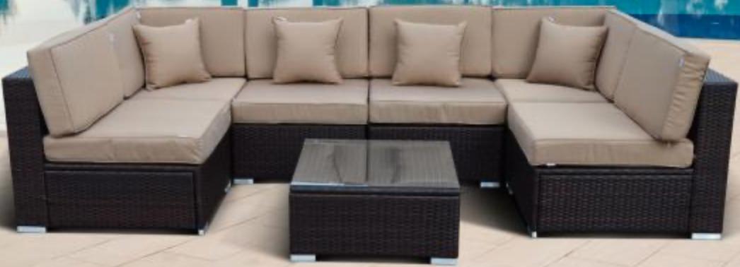 Диван Афина-Мебель YR822BB коричневый