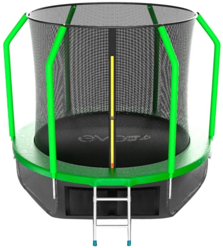 Батут Evo Jump Cosmo 8FT Green (с внутренней и нижней сеткой, лестницей)