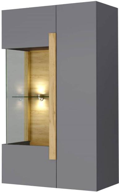 Витрина Интердизайн Дубай светло-коричневый/серый 1230x750x360 см (навесная)