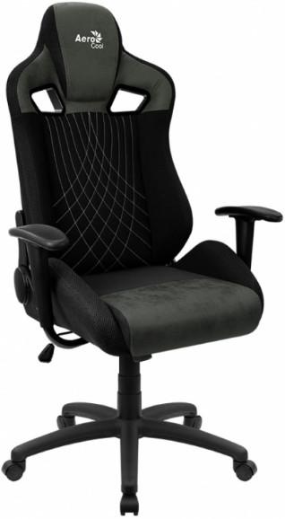 Игровое кресло Aerocool AC-EARL-HG черный/зеленый