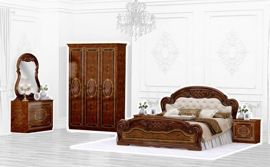Спальня Интердизайн Лара орех коричневый/коричневый (композиция 3)