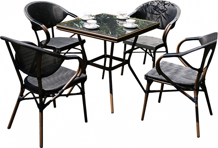 Комплект мебели Афина-Мебель T130/D2003S серо-бежевый