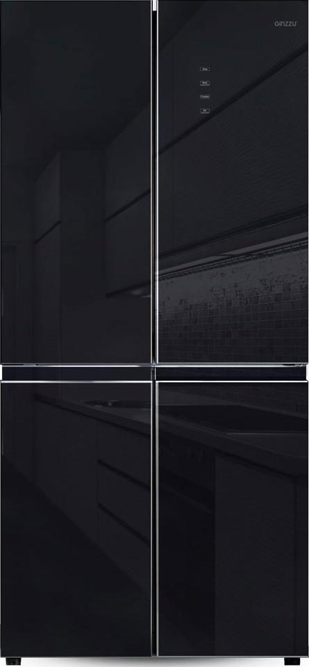 Холодильник Ginzzu NFK-525 Black Glass