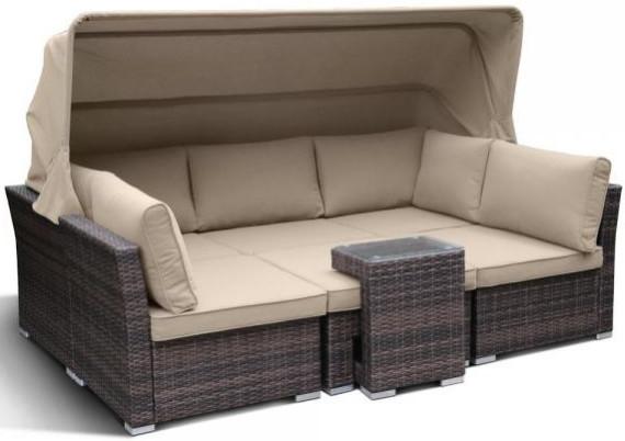 Диван Афина-Мебель AFM-320B коричневый